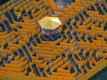Labyrinth in der Bonner Rheinaue